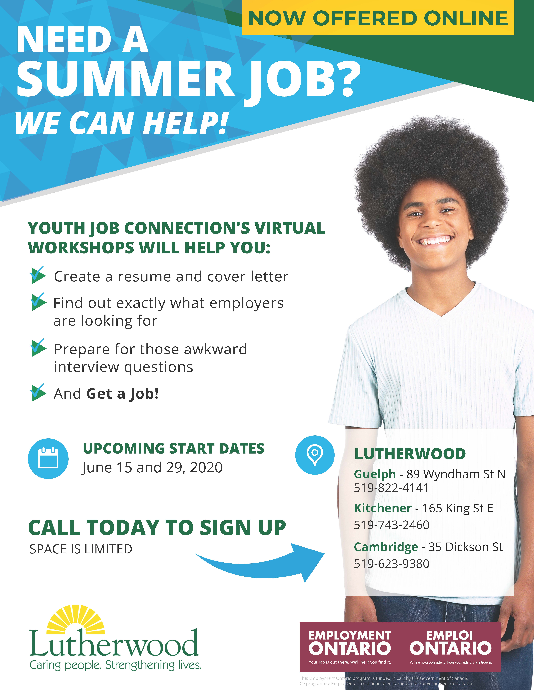 YJC Summer Poster - June Workshop Dates Cambridge